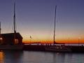 Rudkøbing Havn om aftenen